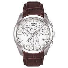 Tissot T035.617.16.031.00 COUTURIER Quarz Chronograph Edelstahl Leder Herrenuhr