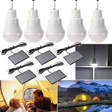 5 x Portable Solar Power LED Bulb Lamp Outdoor Lighting Camp Tent Fishing Light