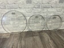 More details for pearl pro tone clear resonant tom rock size drum heads skins set of 3