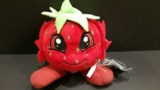 Neopets Limited Edition Strawberry JubJub KeyQuest Plush w/Unused Code
