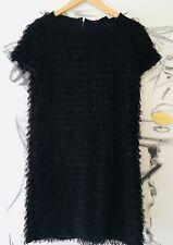 SINEQUANONE superbe Robe Noire Mini Franges Pailletée T.3/ 38/40 État Parfait