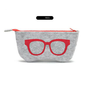 Felt Glasses Case Bag Sunglasses Case Box Portable Soft Zipper Glasses Protec L3