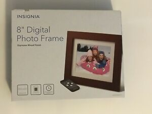 "Insignia Espresso 8"" Digital Photo Frame NS-DPF10WW-16 Slideshow JPEG USB Brown"