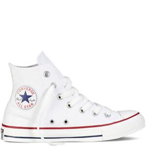 Converse Chuck Taylor WOMENS Hi Top Canvas Trainers White Size 4 UK / 36.5 EU