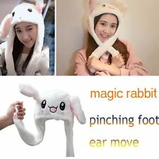 Cute Rabbit Pinching Ear Hat Can Move Airbag Magnet Cap Plush Knit Hat Gift