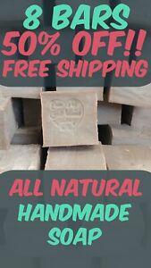 8 Bars Handmade Natural Vegan Ancient Laurel Oil Soap, Body & Hair Moisturizer