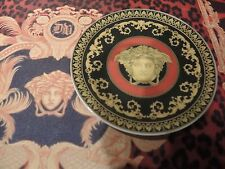 VERSACE MEDUSA COASTER PLATE RED CANDY PEANUTS SOYA  ROSENTHAL NEW RARE RETIRED