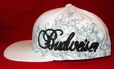 HTF New Licensed Budwieser King of Beers Flexfit Hat L/XL White Last Ones! ba