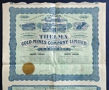 1912 Ontario, Canada: Thelma Gold Mines Company Limited - with all coupons