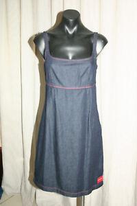 Calvin Klein Jeans Dress, Alexa Rinse 800 (42I9159) Dark Blue, Red Stitch, XS
