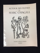 Marc Chagall Poems Painting Art Exposition Book Geneve Cramer Gallery 1975