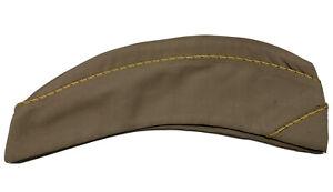 Named WWII WAC Enlisted Khaki Garrison Cap Women's Army Uniform Hat WAAC LG
