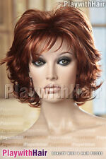 Choppy Short Sexy Wig Hot Auburn Red