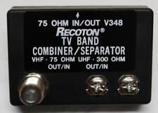 Recoton V348  75 Ohm VHF, 300 Ohm UHF Combiner / Separator to 75 Ohm F Connector