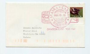 Canada Cover Alaska Highway Town Cancel Dawson City 1991   G817