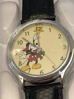 WDW Disney Parks Mickey Mouse Christmas Collector's Series Rime Works Watch NIB!