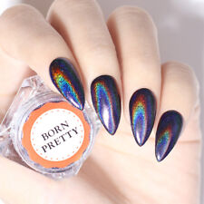 0.2g Purple Holographic Rainbow Nail Glitter Powder Mirror Nail Art Pigment Dust