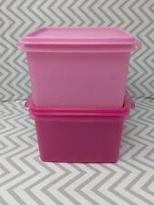 TUPPERWARE Square Keeper Goody Box Shades of Pink 2 L New!!!!
