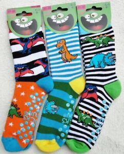 "3 Paar ABS Socken,Stoppersocken für Kids,Gr.19/22 -  Gr.35/38, ""Dino"""