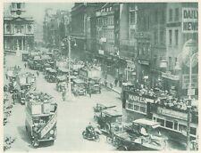 G0107 England - London - Le Strand - Animée - Stampa d'epoca - 1923 Old print