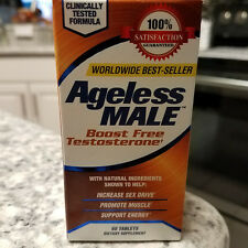 NEW VITALITY Ageless Male Testosterone Boost 60 Tablets Sex Drive Energy 2020