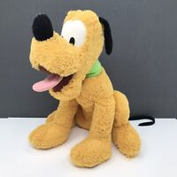 "Disney Store Pluto Stamped Soft Plush Toy 13"""