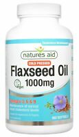 Natures Aid Vegetarian Flaxseed Oil (Cold Pressed) 1000mg | 180tabs