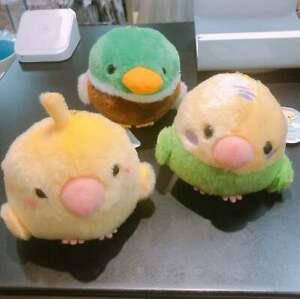 Amuse Amufun Kotori Tai Fluffy Bird Plush Ball Chain Cockatiel Kawaii Doll Japan