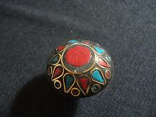 vecchio anello nepalese turchese corallo ottone nepal tibet affare etnico