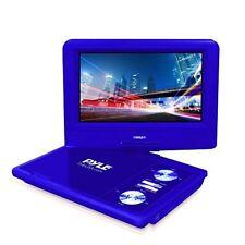 "7"" DVD Player HD Portable CD Player, Swivel Widescreen,USB/SD Card Reader -Blue"