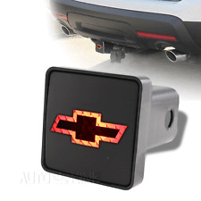 "Chevy Logo Trailer Tow Hitch Cover Brake Light For 2"" Receiver 2 Prong Connector"