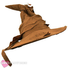 BROWN WITCH WIZARD HAT HALLOWEEN FANCY DRESS COSTUME BOOK FILM MOVIE CHARACTER