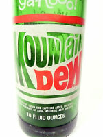 vintage ACL Soda POP Bottle: green  MOUNTAIN DEW  - 10 oz ACL