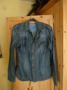 Jack & Jones, Blue Denim Shirt Large. In excellent condition.