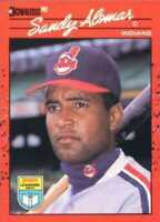 1990 Donruss Learning Series Baseball #40 Sandy Alomar Jr. Cleveland Indians