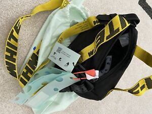 Off-White:  black nylon Baby duffle bag