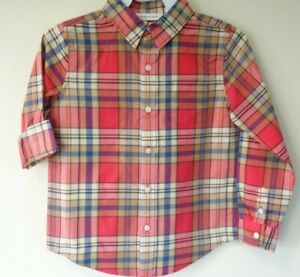 New Janie and Jack 2020 Summer 0 Plaid Shirt Boy's Size 8
