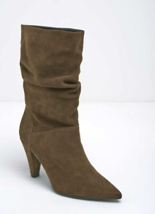 Mint Velvet Harley Taupe Suede Slouch Boots Ladies UK 3 EUR 36 REF M472