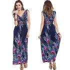 Maxi Dress Long Party Summer Evening Beach Boho Print Plus Size 8-20 Stretch