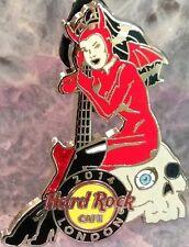 Hard Rock Cafe LONDON 2014 Sexy DEVIL DEMON ROCKABILLY Girl PIN w/ Guitar #76117