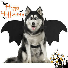 Cute Pet Dog Cat Bat Halloween Costume Vampire Fancy Dress Outfit Wings Cosplay