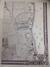 Large Print of a London Map First Published in 1746. The Docklands H3