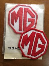 Patches British Leyland MG Car Club vintage red white patches (2) great cond
