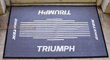 Triumph Front Door Mat Non-Slip Back Ideal Novelty GIFT Present Garage Workshop