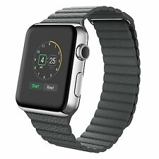 Genuine Leather Loop Magnetic Loop Watch Band For Apple Watch 42mm 38mm