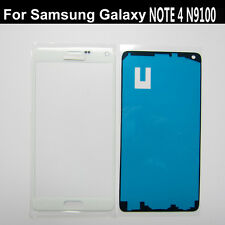 White front outer touch screen glass lens Glass Replacement For Galaxy Note 4