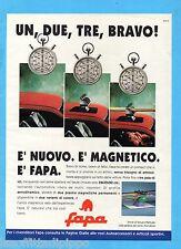 QUATTROR991-PUBBLICITA'/ADVERTISING-1991- FAPA - PORTASCI MAGNETICO