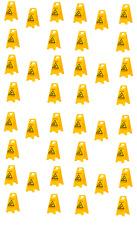 AKTION  40 Stück Warnschild-Vorsicht Rutschgefahr-Vorsicht Glatt TOP Qualität