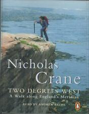 TWO DEGREES WEST by Nicholas Crane ~ Two-Cassette Audiobook Read By Andrew Sachs