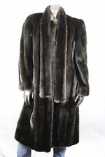 Hillmoor New York Tissavel France Womens Vintage Long Faux Fur Coat Vegan Sz L